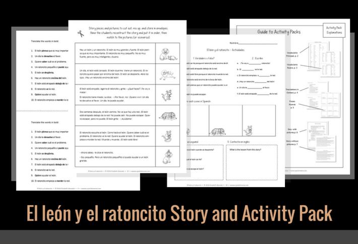 El león y el ratoncito Story and Activity Pack