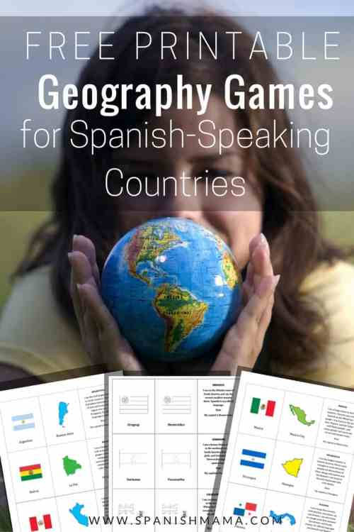 Printable card games for Spanish-speaking countries and capitals.