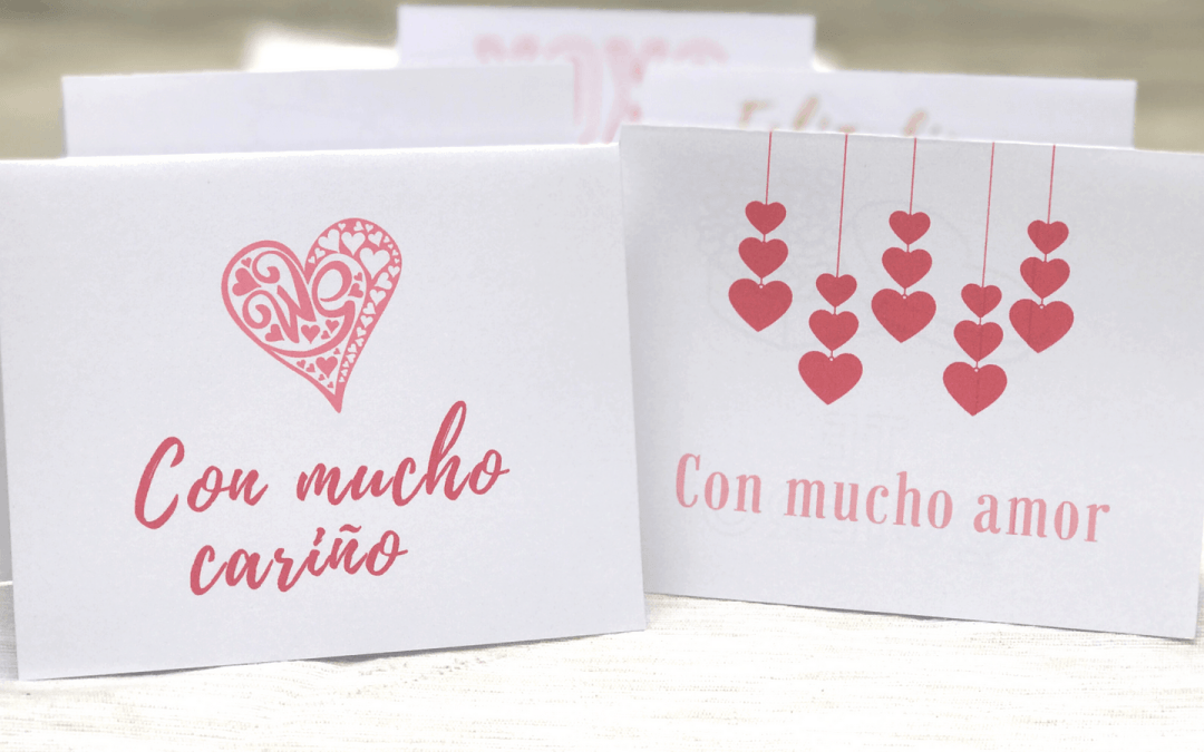 Spanish Valentine's Day Cards: Free Printables for Día del amor