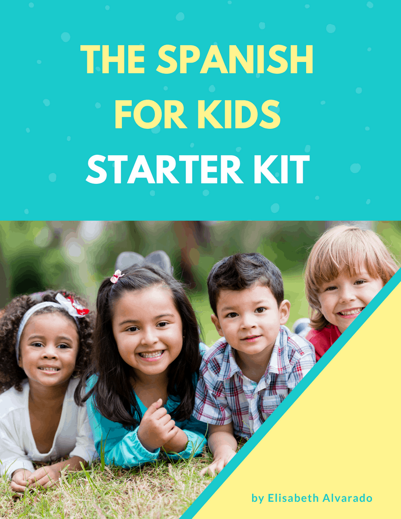 Spanish For Kids Starter Kit. Free resources and printables for getting started with Spanish as a family. Get access to a free eBook, stories, games, vocabulary cards, and more.   #learnspanish #spanishforkids #freeprintables #freedownload #spanishlessonsforkids #spanishlessons #homeschoolspanish