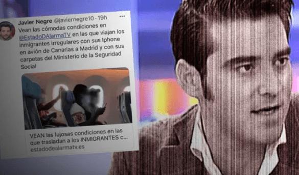 Javier Negre y su racismo en redes