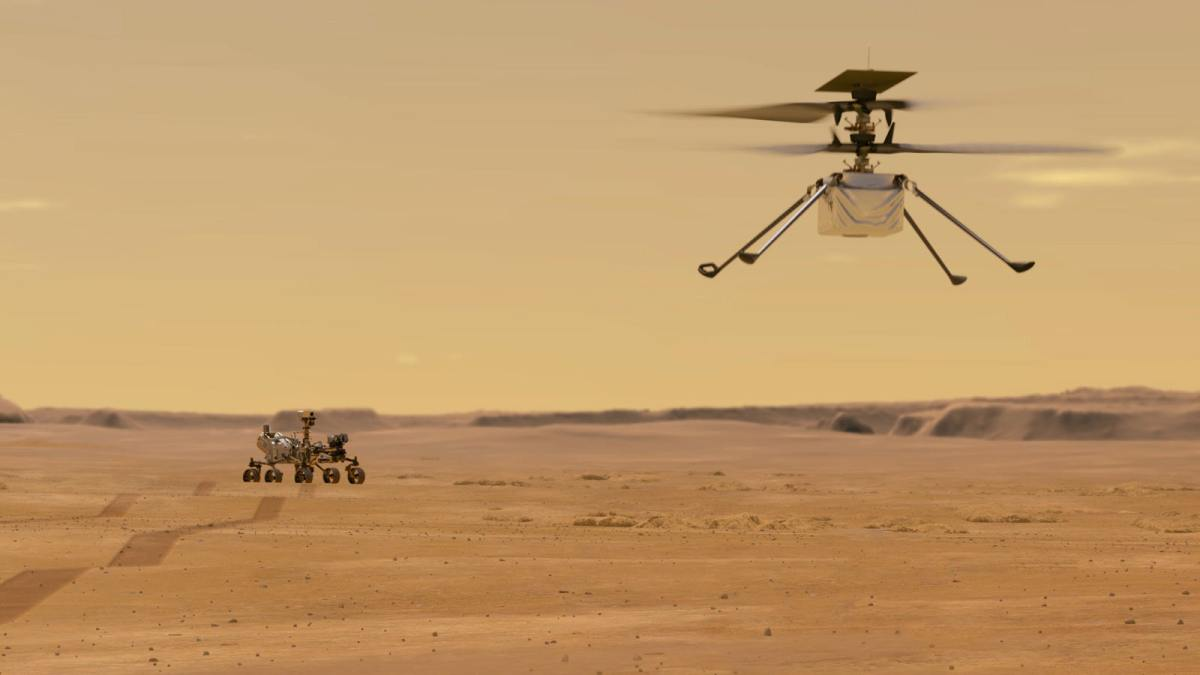 Los drones llegan a Marte