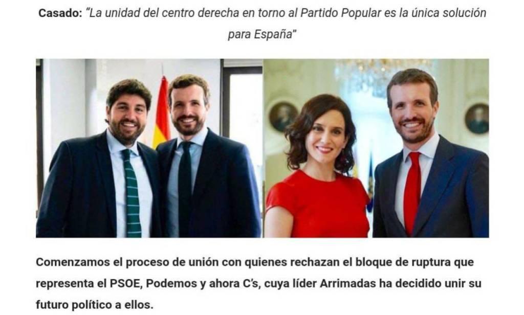 PP, López Miras, Ayuso, Casado