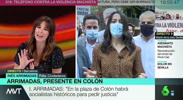 Vídeo| Mamen Mendizábal deja sin palabras a Arrimadas