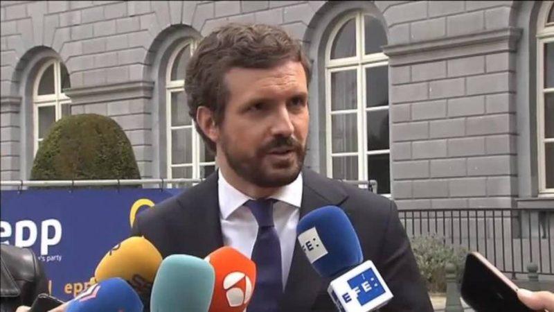 Vídeo |El balbuceo de Casado cuando le preguntan si Aznar engañó a los españoles cuando indultó a 15 condenados por terrorismo