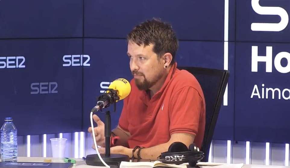 Pablo Iglesias durante el ágora de Hora 25. Créditos: Cadena SER