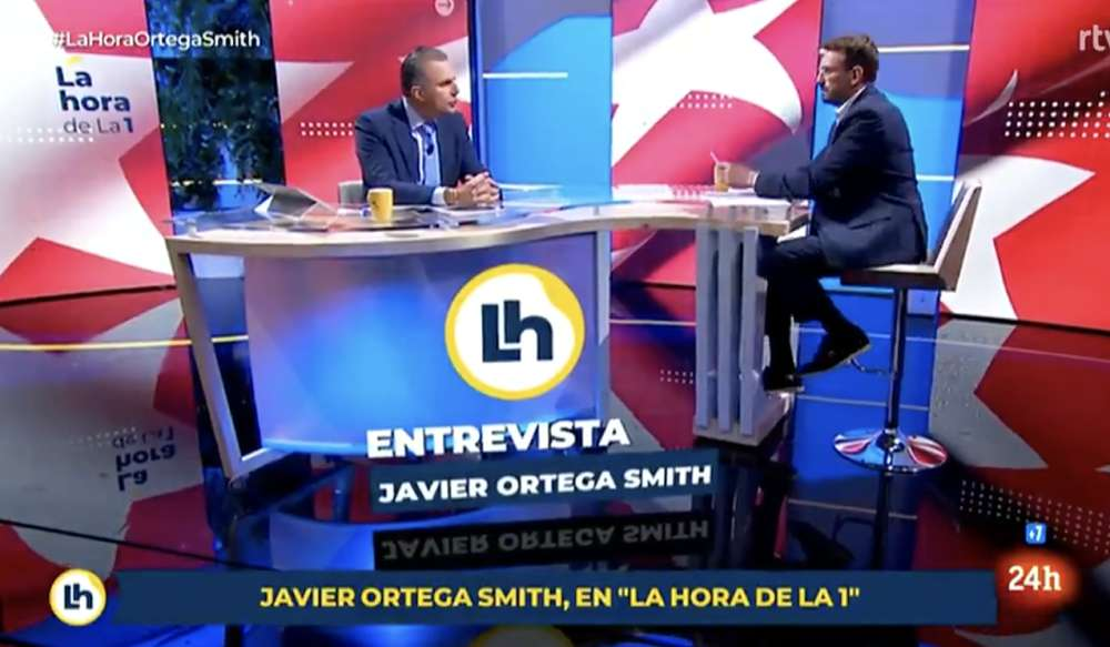 Javier Ortega Smith. Captura de La hora de la 1. Créditos TVE1.