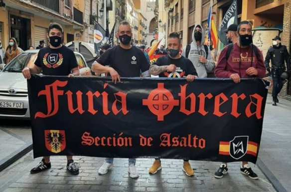 Marcha ultra el pasado 1 de mayo en el barrio de El Carme de Valencia. Créditos: ElDiario.es