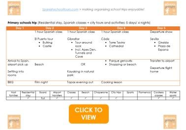 Primary schools trip