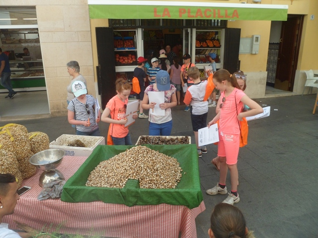 In market using our Spanish