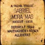 Gabriel Mora Mas. One of the brass memorial 'stones' dedicated to the residents of Palma who were victims of fascism. Stumbling stones. Photo: Folke Olsson