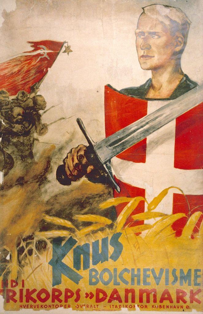 Besættelsen og befrielsen: 5. Frikorps Danmark til kamp mod bolsjevismen: Hverveplakat for Frikorps Danmark