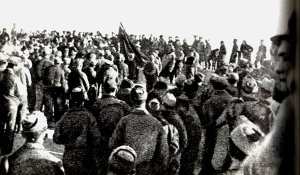"""Appell einer Einheit der XI. Brigade im """"zweiten Einsatz"""", 1939"""