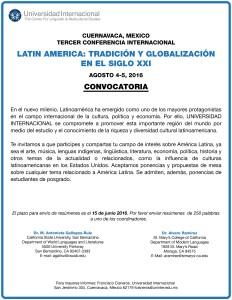 Tradicion y Globalizacion 2016 Español