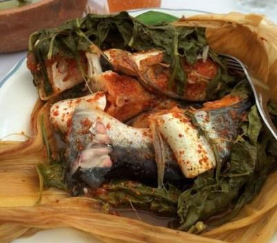 Tamales de Mojarra