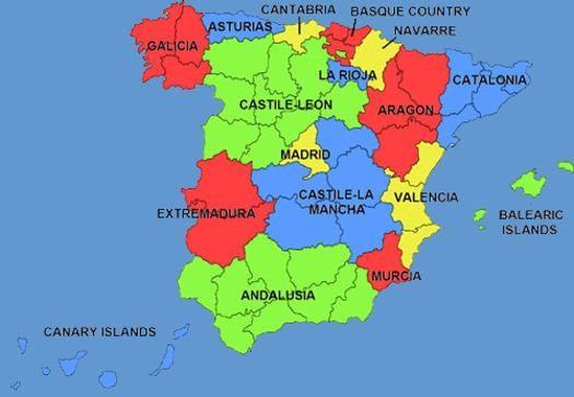Regions of Spain Spanishvida