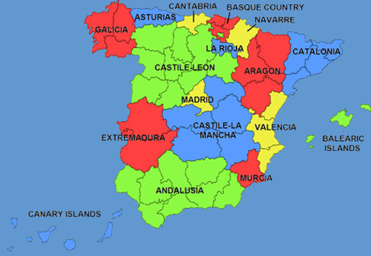 Regions of Spain | Spanishvida