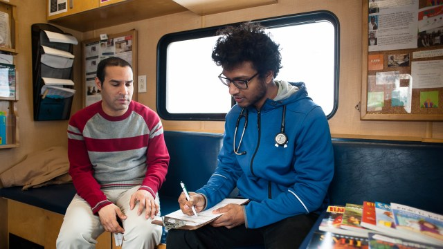 To make health care more accessible, mobile van travels to
