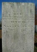 Rev. Whitfield Cowles Gravestone