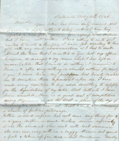 1846 letter, Page 1