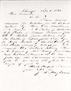 Mayborne's letter to Pres. A. Lincoln