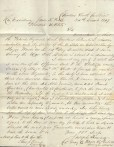 1847 Letter by Kennedy