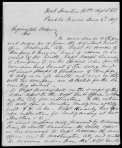 1847 Letter by Adj. James Cantey, page 1