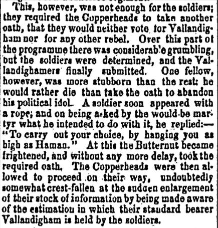 17 June 1863, Crisis