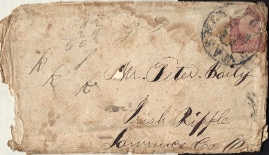 Front of 1862 Envelope