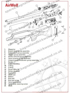 Daystate Airwolf Exploded Parts Diagram