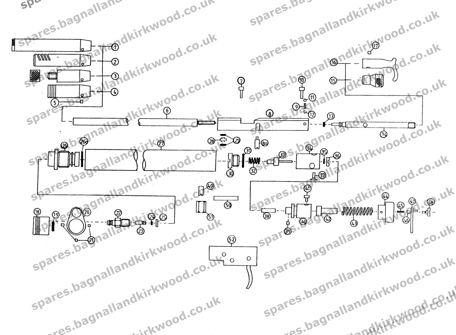 Diagram Of A Harrier Trusted Wiring Diagrams Engine Daystate Bagnall And Kirkwood Airgun Spares Av 8b Jump Jet