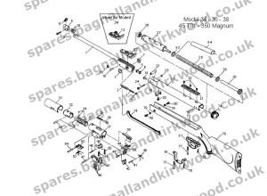 RWS Diana Original Mod 34  Bagnall and Kirkwood Airgun