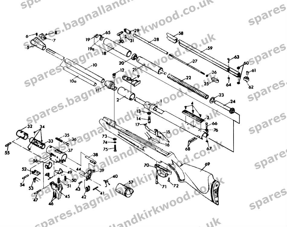 diana original rws mod 48 exploded parts diagram