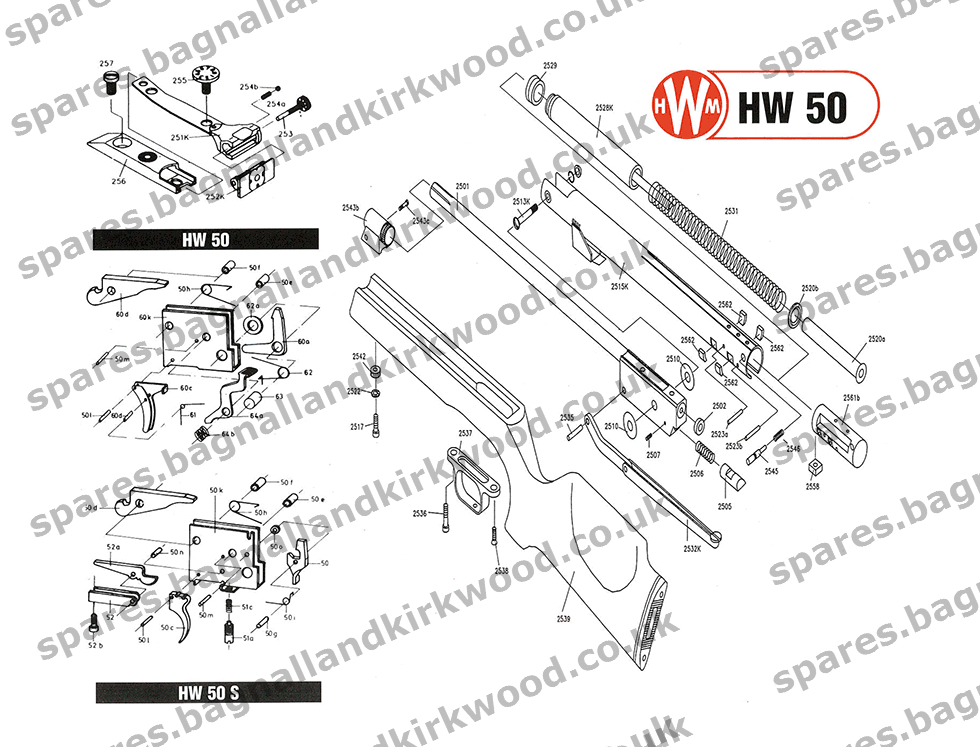 weihrauch hw50 spare parts