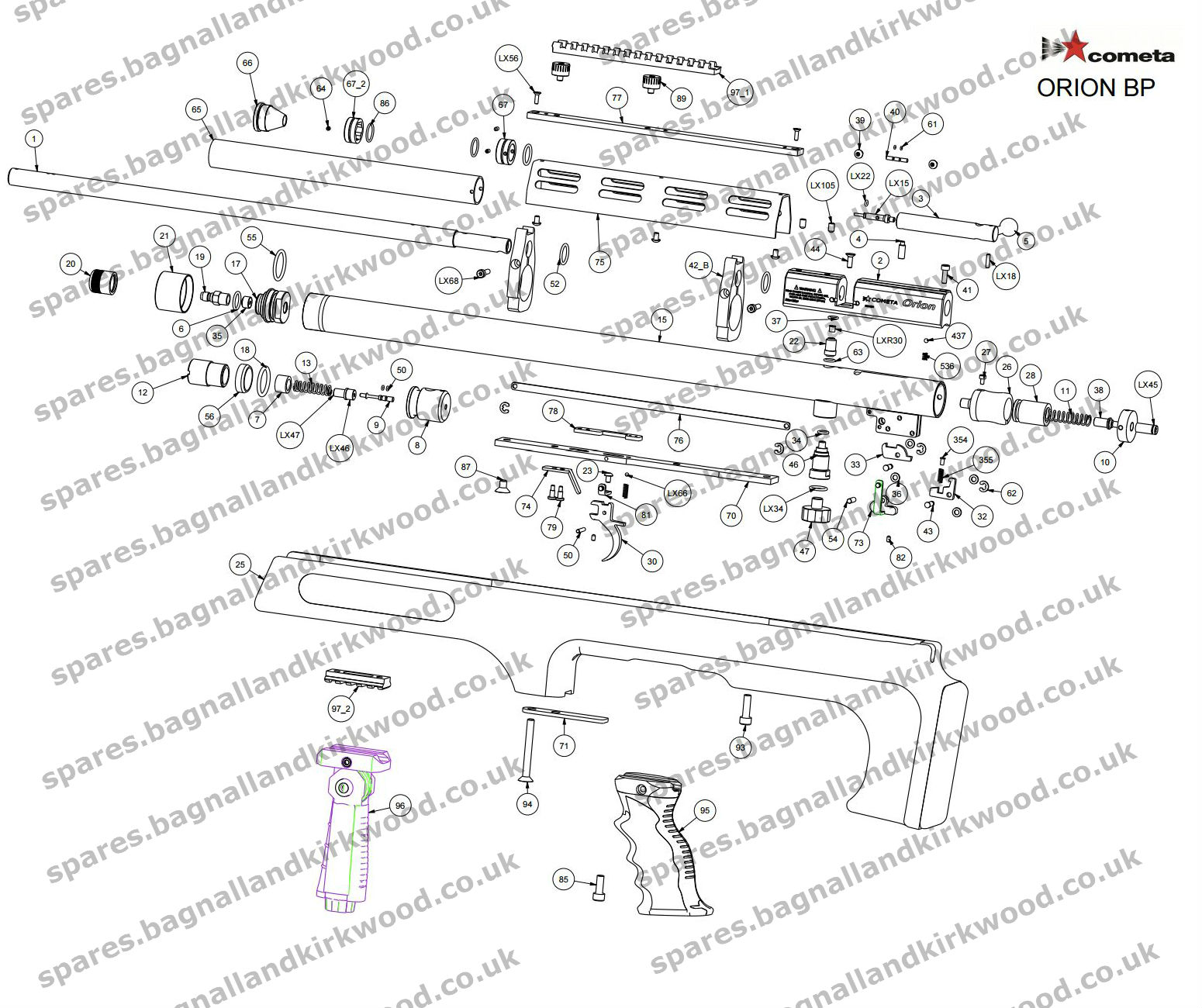 Parts Of A Sheet Diagram Guide And Troubleshooting Wiring Likewise Stihl Chainsaw Moreover On Cometa Orion Bp Air Rifle Exploded Bagnall Rh Spares Bagnallandkirkwood Co Uk Briggs Stratton Buick