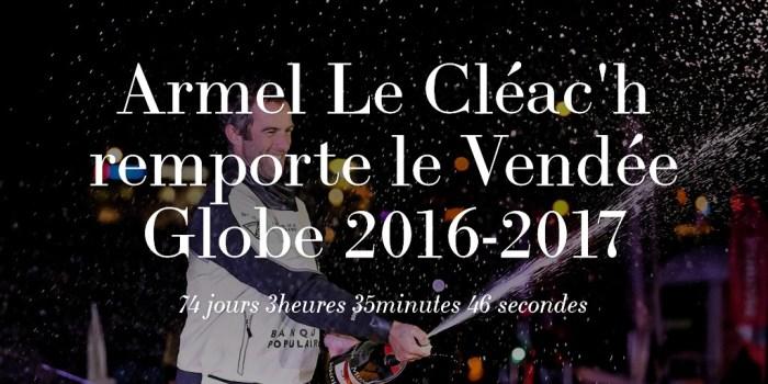 Armel Le Cléac'h remporte le Vendée Globe 2016-2017