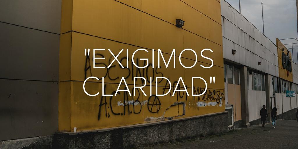 """""""EXIGIMOS CLARIDAD"""""""