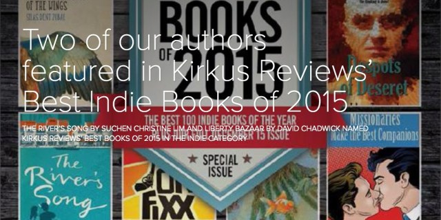 Two of our authors featured in Kirkus Reviews' Best Indie Books of 2015