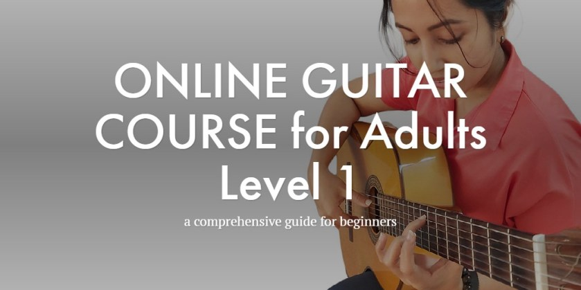 ONLINE GUITAR COURSE for Adults