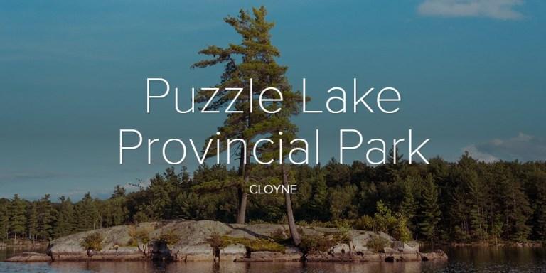 Puzzle Lake Provincial Park