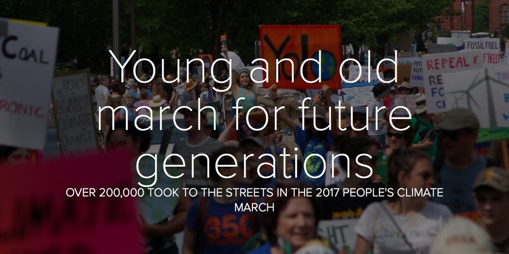 Young and old march for future generations