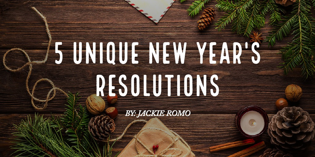 5 unique New Year's resolutions