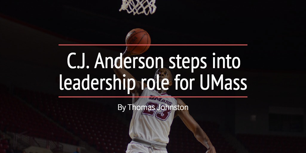 C.J. Anderson steps into leadership role for UMass