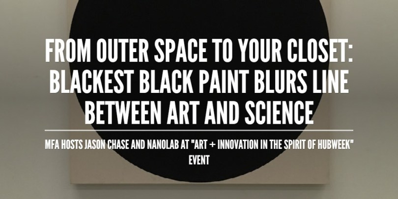 From outer space to your closet: blackest black paint blurs line between art and Science