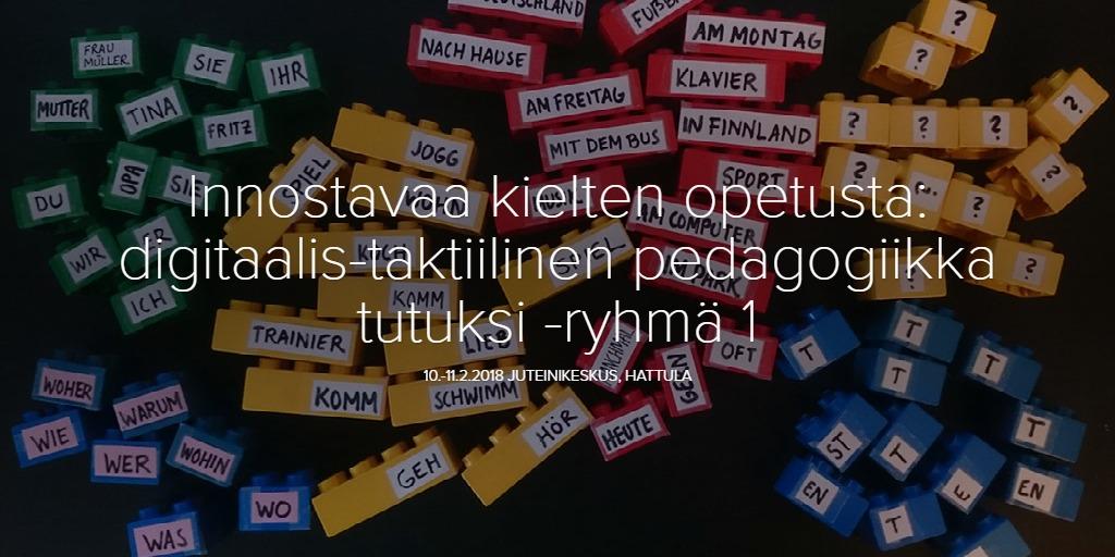 Innostavaa kielten opetusta: digitaalis-taktiilinen pedagogiikka tutuksi