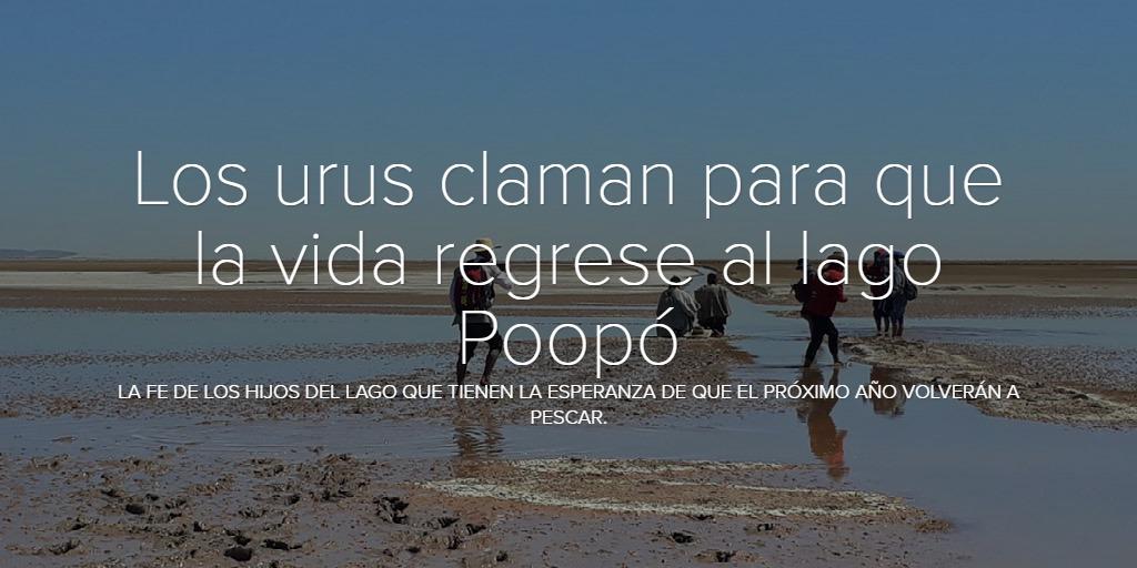 Los urus claman para que la vida regrese al lago Poopó
