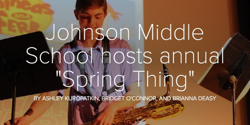 """Johnson Middle School hosts annual """"Spring Thing"""""""