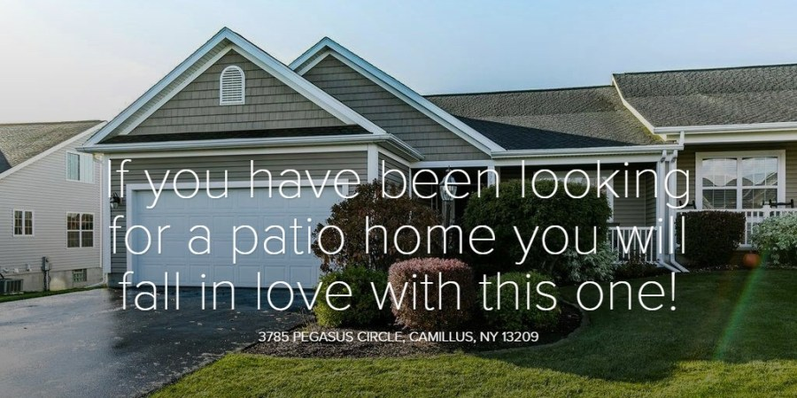 If you have been looking for a patio home you will fall in love with this one!