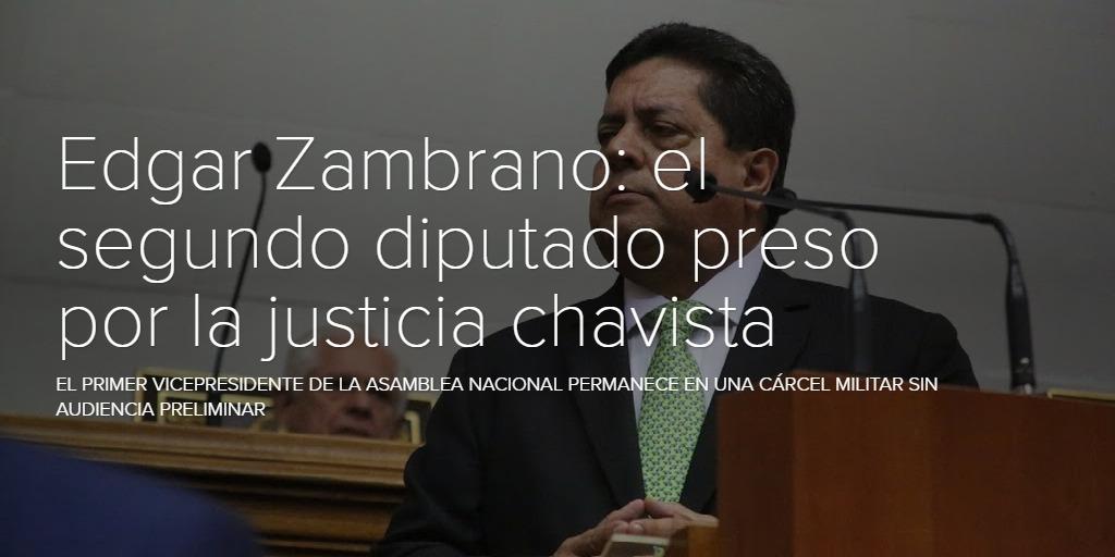 Edgar Zambrano: el segundo diputado preso por la justicia chavista