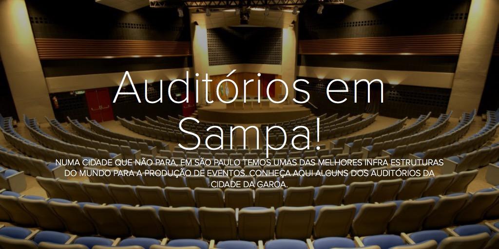 Auditórios em Sampa!